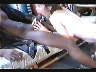 Happy wife enjoys a really big black cock