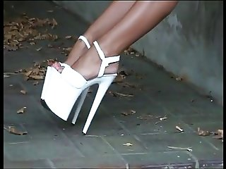LGH Tamia High Heels Smoking Public Bitch