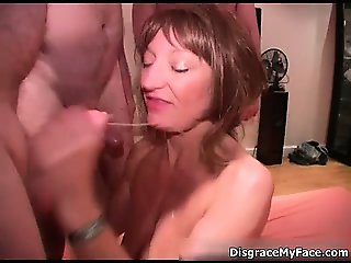 Nasty blonde slut goes crazy sucking part3