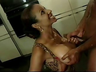 Black Busty compilation: titfucking and facials