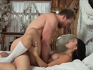 Natural Teen Beauty Creampied By Big White Cock