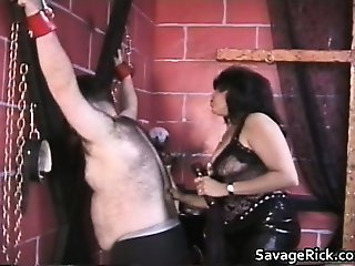 Fat and hairy dude gets tied and ass part5