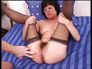 Indecent French Mature take deep in her Ass