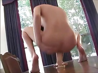Stunning Teen Brunette Using Toy