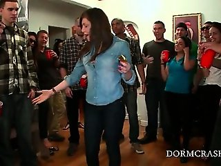 College babes get naked and masturbate cunt at sex party