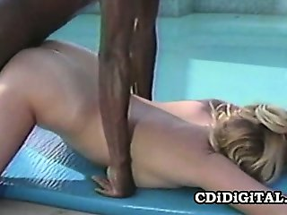 Lynn LeMay - Retro Blonde Slut Pleasing A Black Dick Outdoor