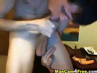 Hot guy wanking off his big hard cock