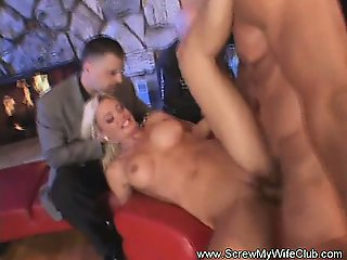 Hotwife Screws While Hubby Watches