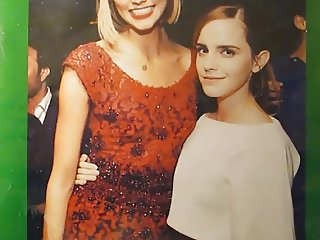 Emma Watson and Karlie Kloss Cum Tribute Bukkake