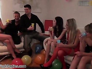 Sexy babes get horny drinking part5