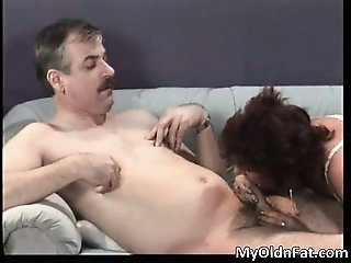 Nasty chubby brunette woman sucking hard part3