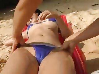 softcore asian bikini gel massage tease