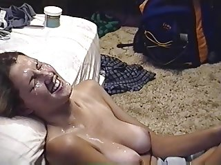 amateur wife gets cum shower