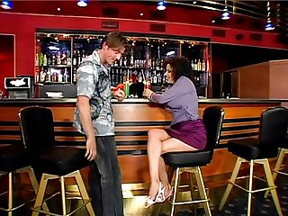 British Busty Alexis Silver gets fucked in a bar