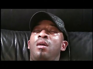 Blindfolded white guy gets fucked hard in his asshole by big black dick