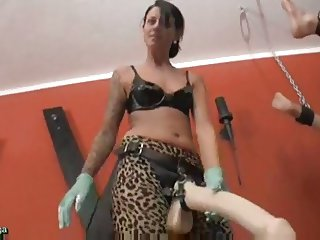 Extreme Pegging Anal Destruction with HUGE dildos
