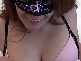 Masked Girl Gets Cum in Her Pussy