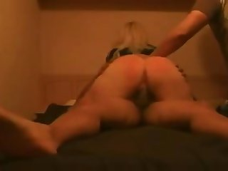 boyfriend spank her ass while riding nicely her lover