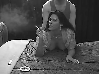 Look into the Camera #18 (Gorgeous Woman Smoking Doggystyle)