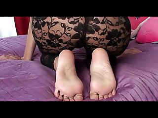 Pantyhose Nordic Blondes JOI with her Big Western Feet