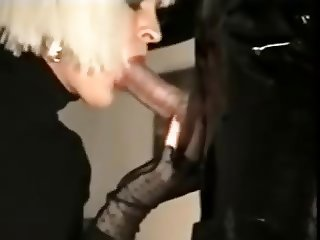 CDs in boots and fishnet oral and anal pleasure