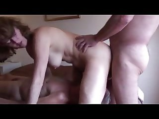 mature Cuckold Husband Eats fucker Creampie