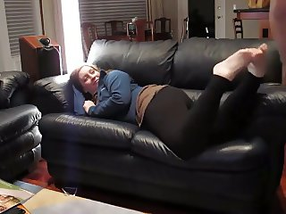 Chubby GF Pounded on the Sofa