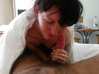 POV russian  hairy skinny get pierced cut dick and creampie