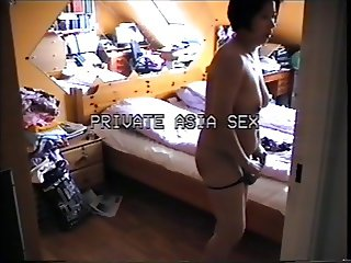 Asian mom in bed ,want it hardt