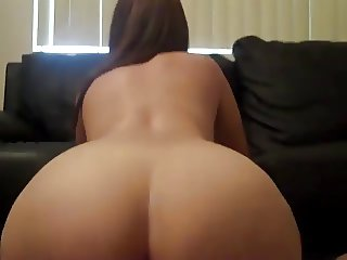 Her sexy ass bouncing on my dick
