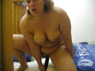chubby wife alone at home