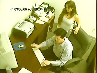 caught! office handjob