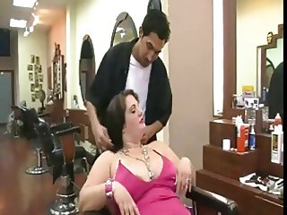 BBW Fucked In the Barber's Chair