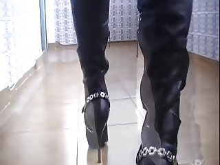 My Black River Island Leather Boots