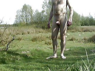Naked walk outdoor