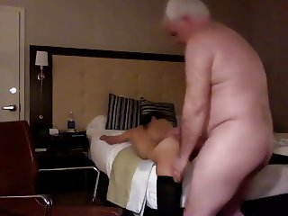 old guy fucks a young hooker
