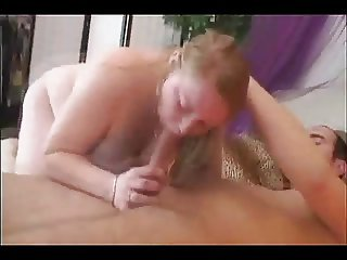 Fat Chubby GF sucking and riding cock with Cum in mouth-P2
