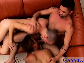 Hot twink scene Andy and Ian squeal and choke as they penetr