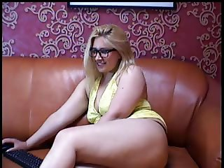 chubby saggy webcam in glasses strip