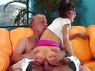 Young Whore Blows Grandpas Cock