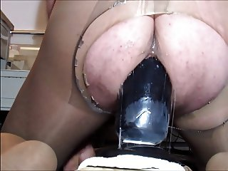sloppy monster plug insertion dildo