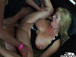 Extremely pierced milf pussy