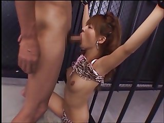 censored Japanese girl facefuck