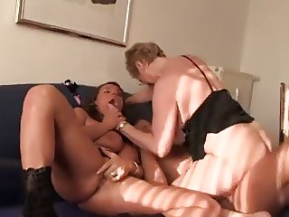 2 big titted women give rough sex to a lucky man
