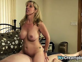 Mature Woman Cummed In