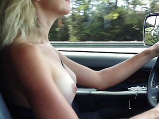 TITS OUT DRIVING USA
