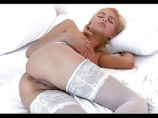Amateur Skinny Awesome Blonde Mirror Fuck