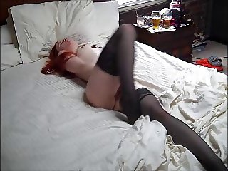 Sexy Redhead gets caught