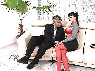 SUPER Hot Secretary Has Anal Sex W Boss