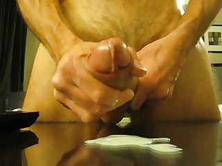 Slow Jerking With a Great Mess On Table